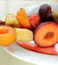 Hot Fruit Kebabs