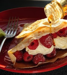 Raspberry and Ginger Crepes