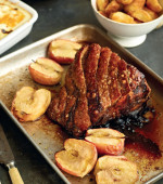 Simple Roast Pork and Baked Apples