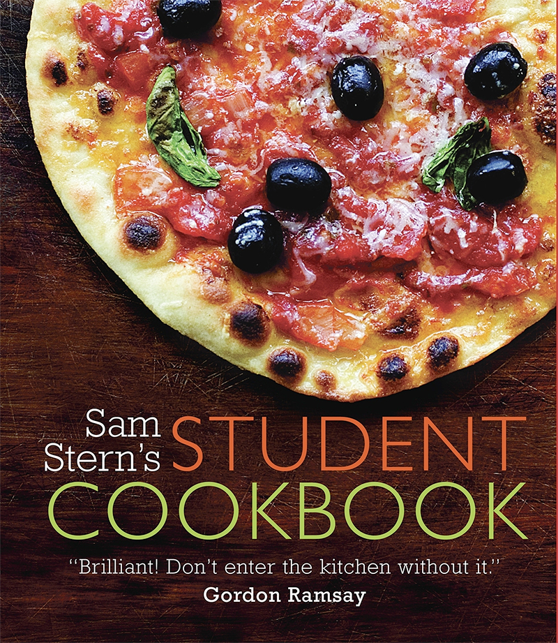 College Cookbook Cover : Student cookbook sam stern