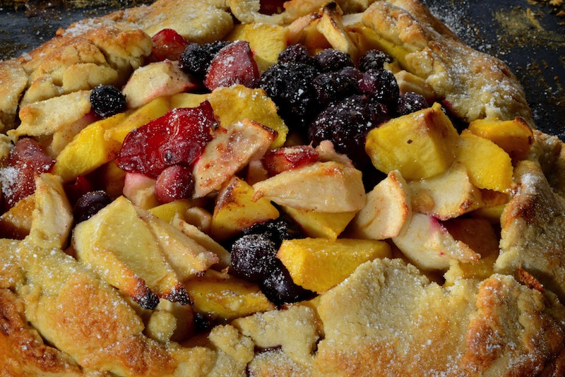 Apple, Nectarine and Pistachio Flapover Pie