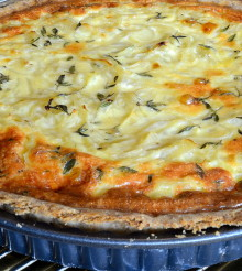 Onion, Thyme and Sour Cream Tart