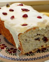 Banana Tea Loaf with Passion Fruit Icing