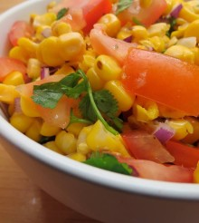 Mexican style corn salsa