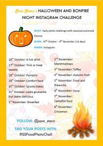 Halloween and Bonfire Night Instagram Challenge