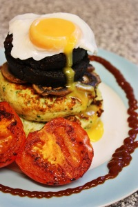 Potato Cake Brunch Stack