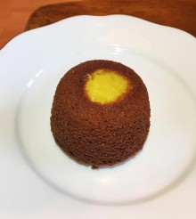 Chocolate fondant with passionfruit
